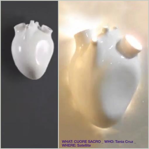 (heart lamp - lampada a forma di cuore) CUORE SACRO / TANIA CRUZ / SATELLITE