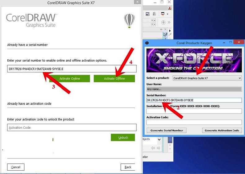 free download serial number corel draw x8