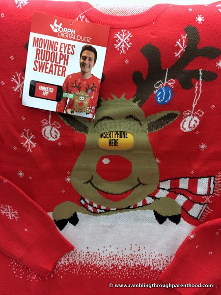 Moving Eyes Rudolph Christmas Jumper