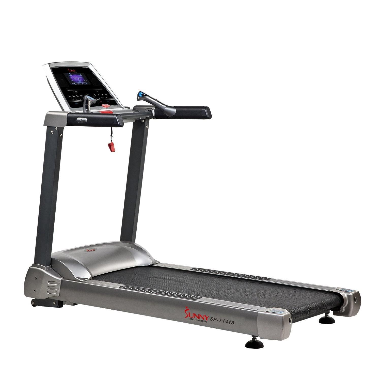 Health and fitness den sunny health fitness sf t1415 for Treadmill 2 5 hp motor