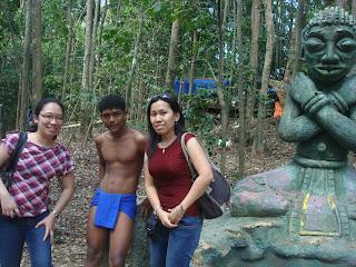 with the dancing aeta in zoobic safari