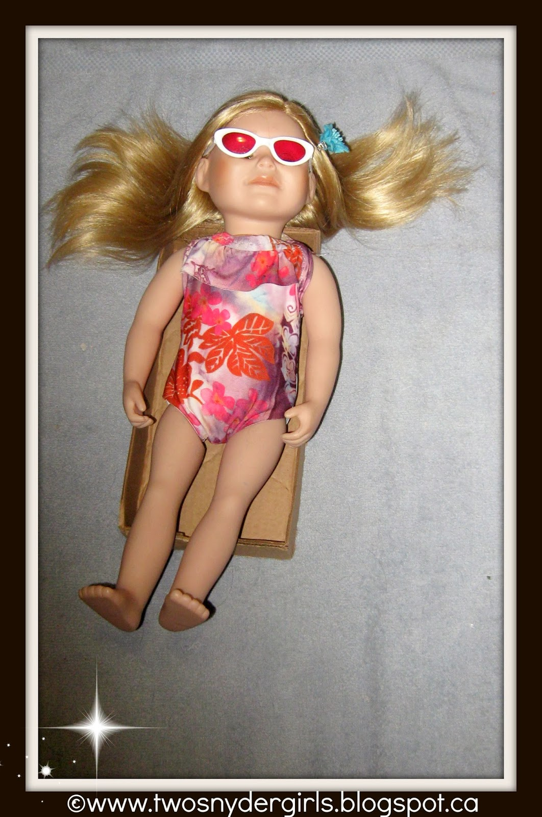 Maplelea 18 inch doll in bathing suit