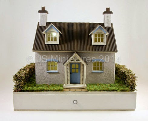 Assembled and landscaped small base kit for BlueBell Cottage