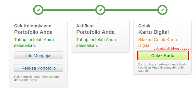 Sudah Bisa Cetak Kartu PTK Digital Semester 2 Tahun Pelajaran 2014/2015