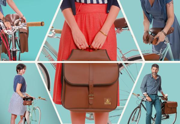 Colección de accesorios combinados para bicicletas de paseo, Ramonas Classic.