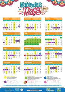 Kalender Puasa Wajib & Sunnah 2019 Untuk Ahli Surga