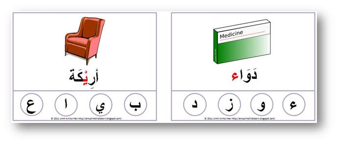 A Muslim Child is Born Arabic Letter Identification Cards – Beginning Middle End Worksheet Kindergarten