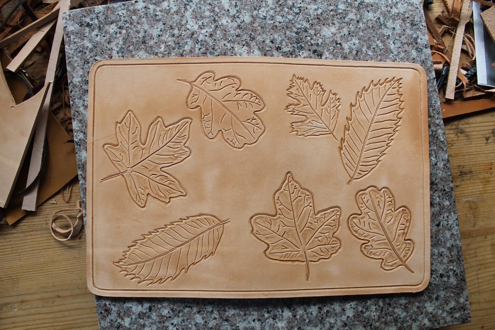 Oak leaf leather carving patterns