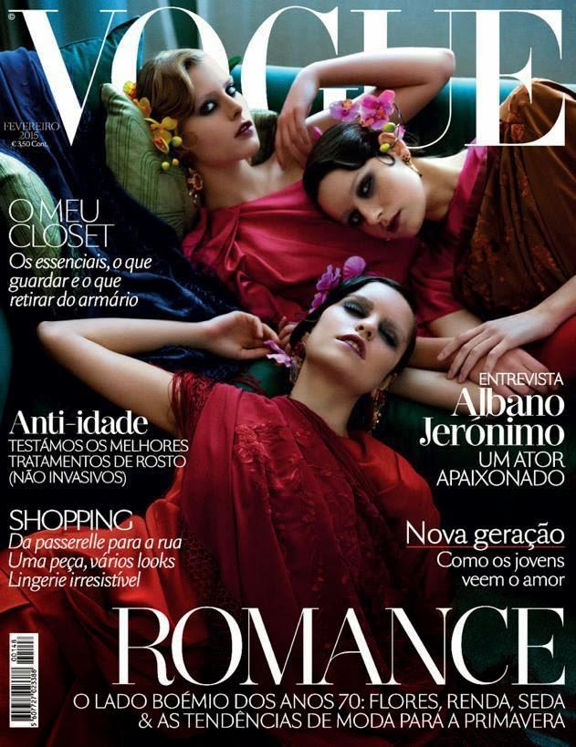 Sandra Martins, Marianne Bittencourt & Catarina Santos For Vogue, Portugal, February 2015
