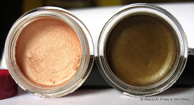 Oriflame Cream Eye Shadow: Rose Gold and Golden Brown