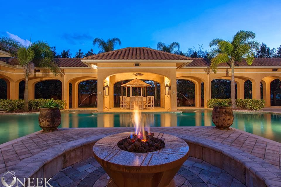 Magnificent mediterranean estate custom built single story for Custom one story homes