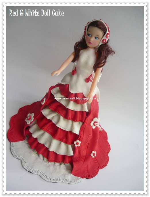 Red & White Doll Cake