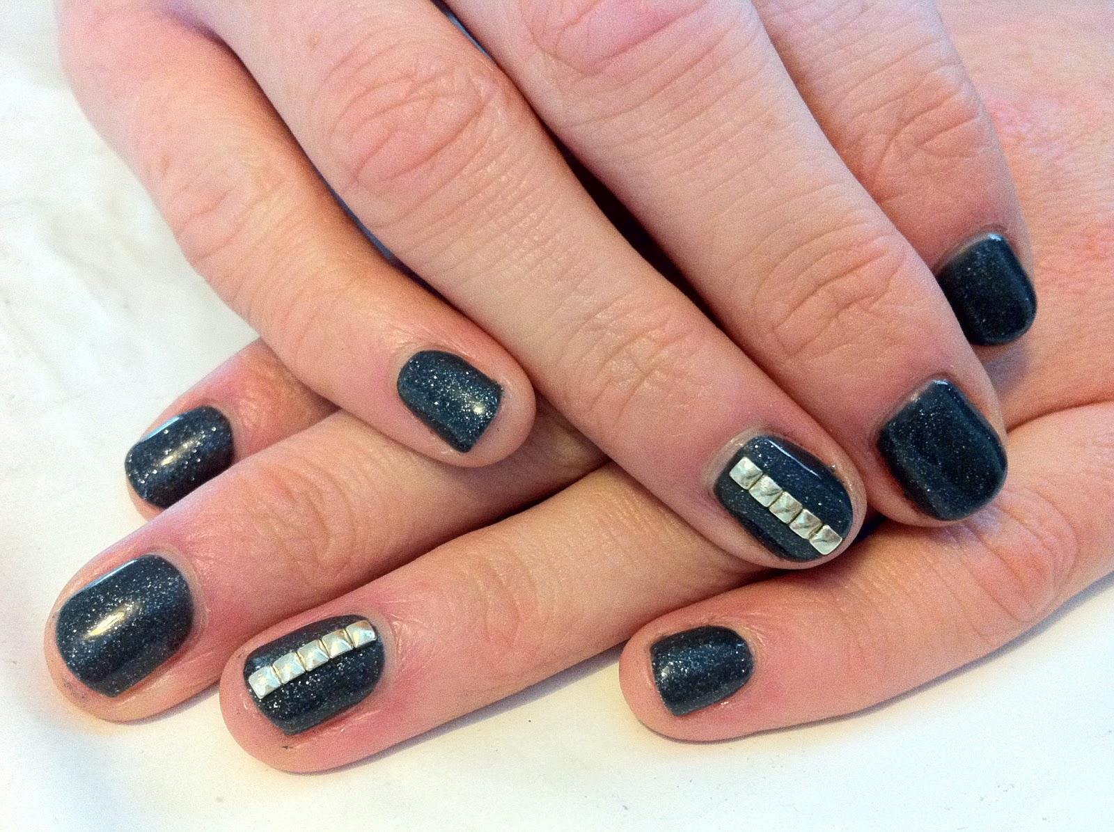Brush Up And Polish Up Cnd Shellac Nail Art Gold Studded Granite