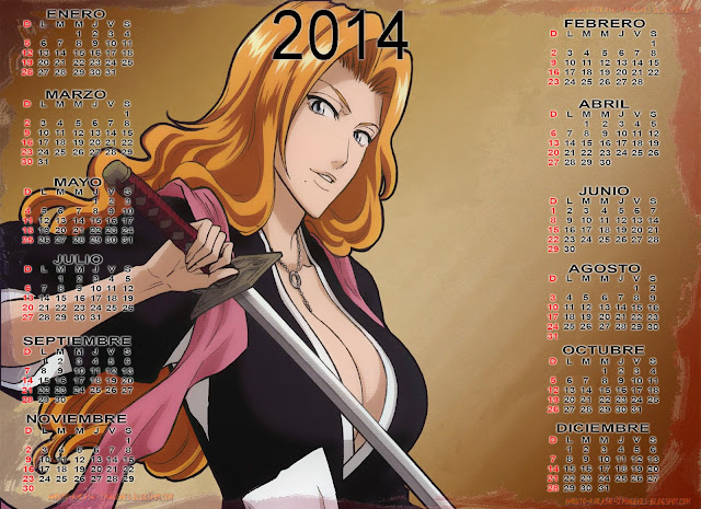 calendario 2014 bleach