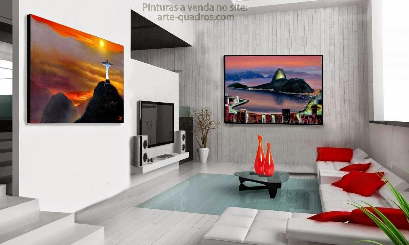 Venda de quadros com pinturas originais artes pl sticas - Telas decorativas para paredes ...