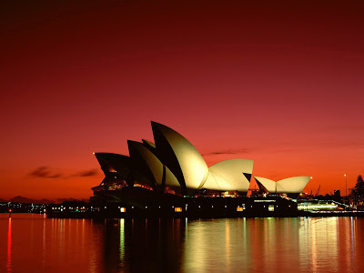 Perfect Sunset Colors In Sydney Opera House
