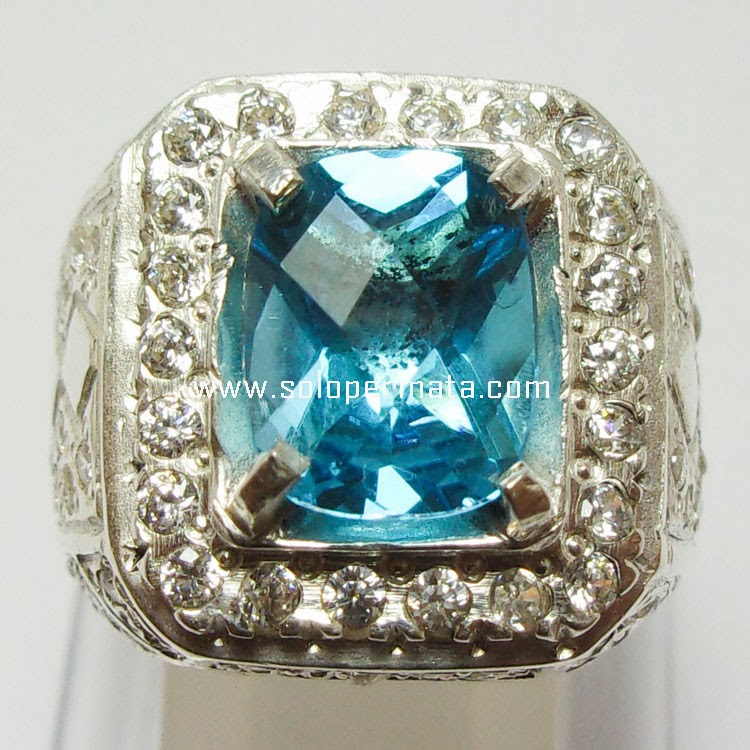 Batu Permata Royal Blue Topaz - 26A12