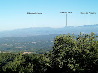 Panoràmica cap al nord des del cim del Puig de la Caritat