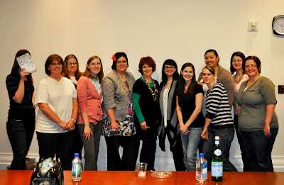 Utah book bloggers with Becca Fitzpatrick, Elana Johnson, Moira Young, and Michelle Hodkin.