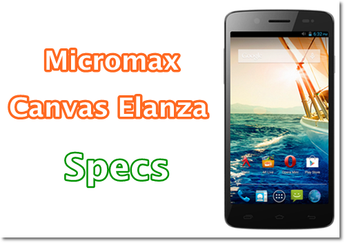 Micromax Canvas Elanza 2 features and specifications- price in india