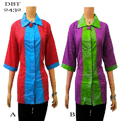 Baju Bluse Batik Wanita Terbaru 2013