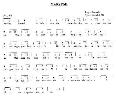 dalam mengajarkan lagu hanya hafalan saja dengan memiliki notasi lagu
