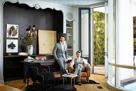 Nate Berkus and Jeremiah Brent in Harper's Bazaar