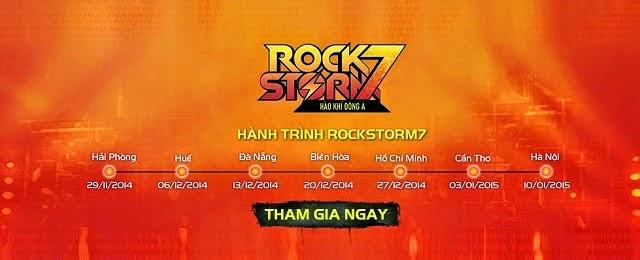 Địa điểm mua vé Rockstorm 2014 Mobifone tại Hà Nội