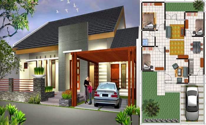 desain denah rumah minimalis type 70 sketsa rumah 2
