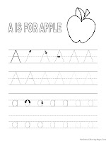 Alphabet Tracer Pages A For Apple