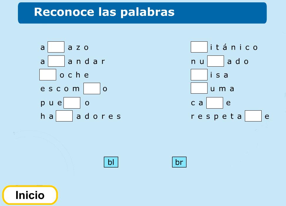 http://www.primerodecarlos.com/TERCERO_PRIMARIA/febrero/Unidad8/lengua/actividades/br_bl/indice.swf