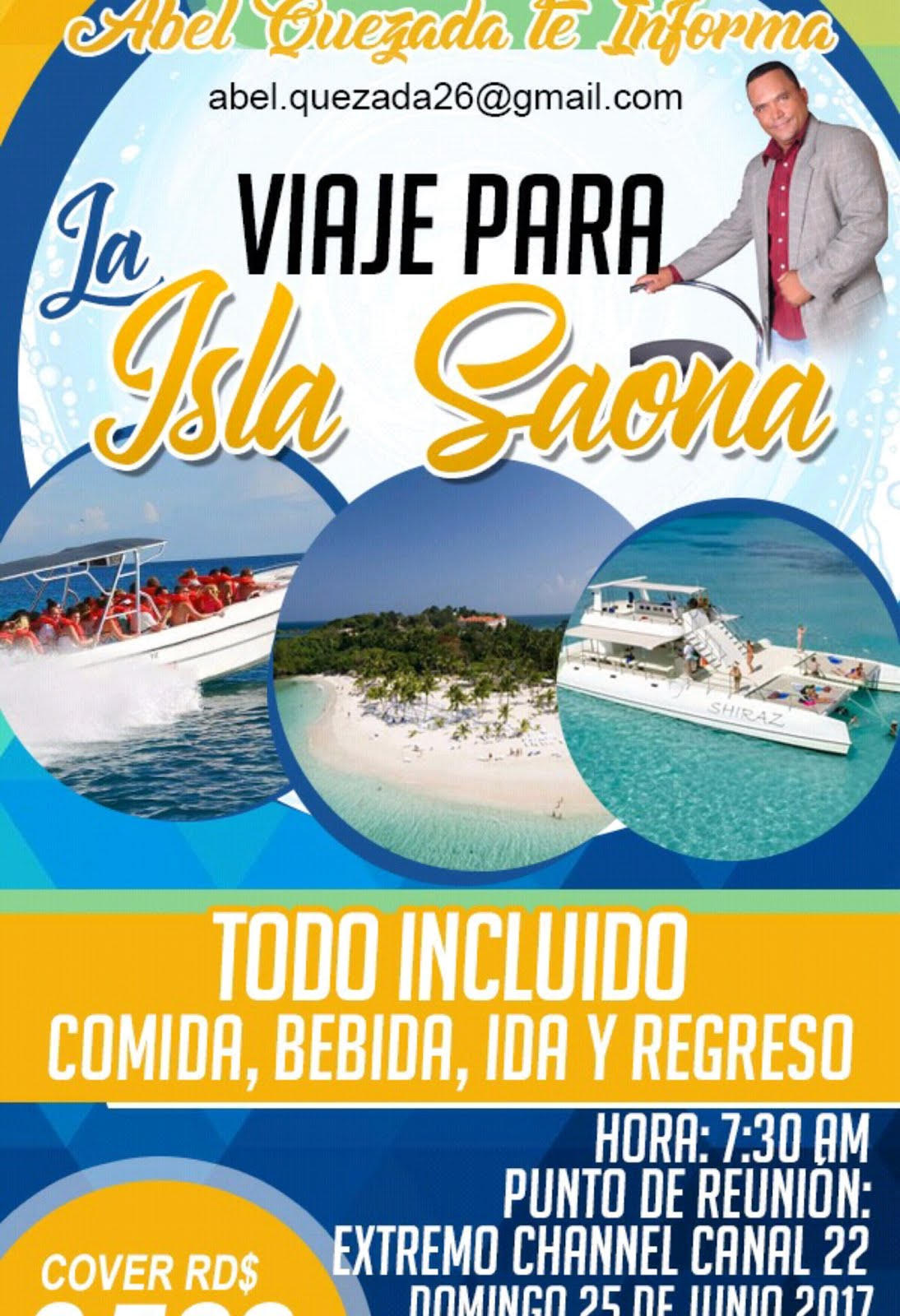 Vamonos a la Isla Saona domingo 25 de Junio  con AbelQuezada.com