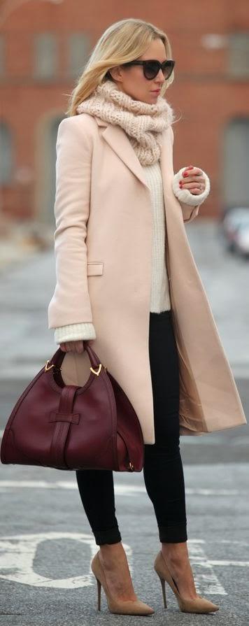 women 39 s fashion blush pink winter coat. Black Bedroom Furniture Sets. Home Design Ideas