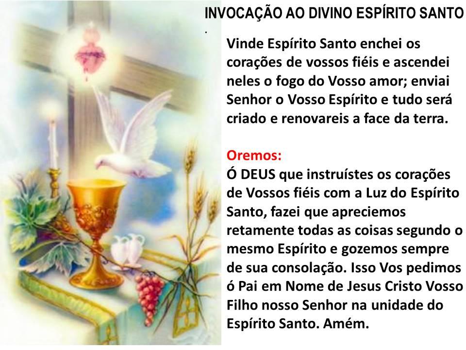 Oração Espírito Santo