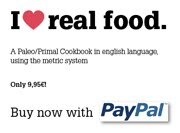 I love real food. My cookbook, english.