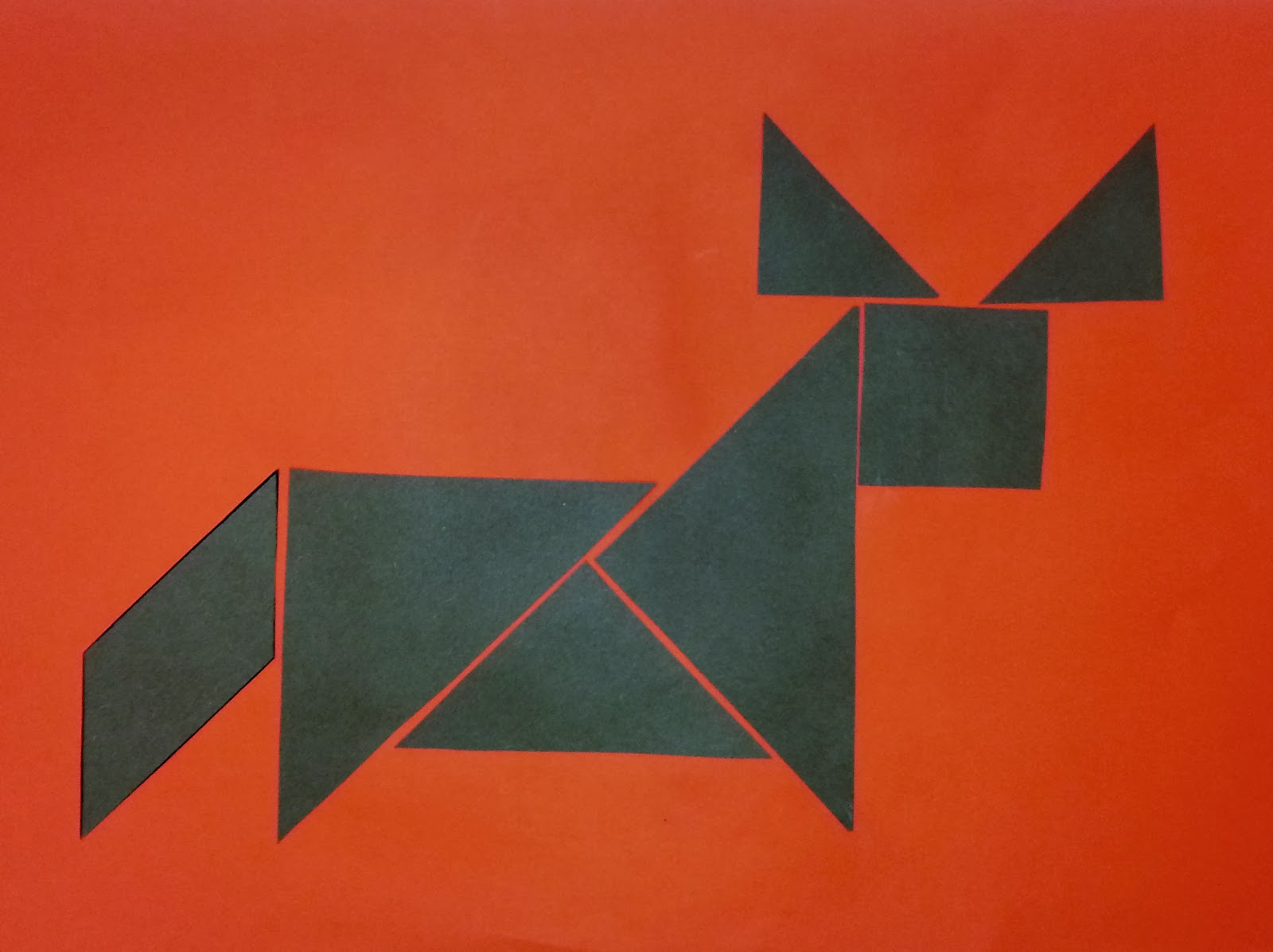 year of the ox tangrams for kids ox crafts for kids - Chinese New Year 1961