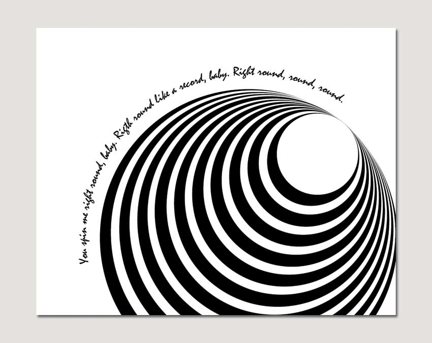 Easy Op Art Black And White Op art style graphics Easy Black And White Op Art