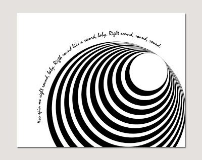 concentric circles poster with text on grey