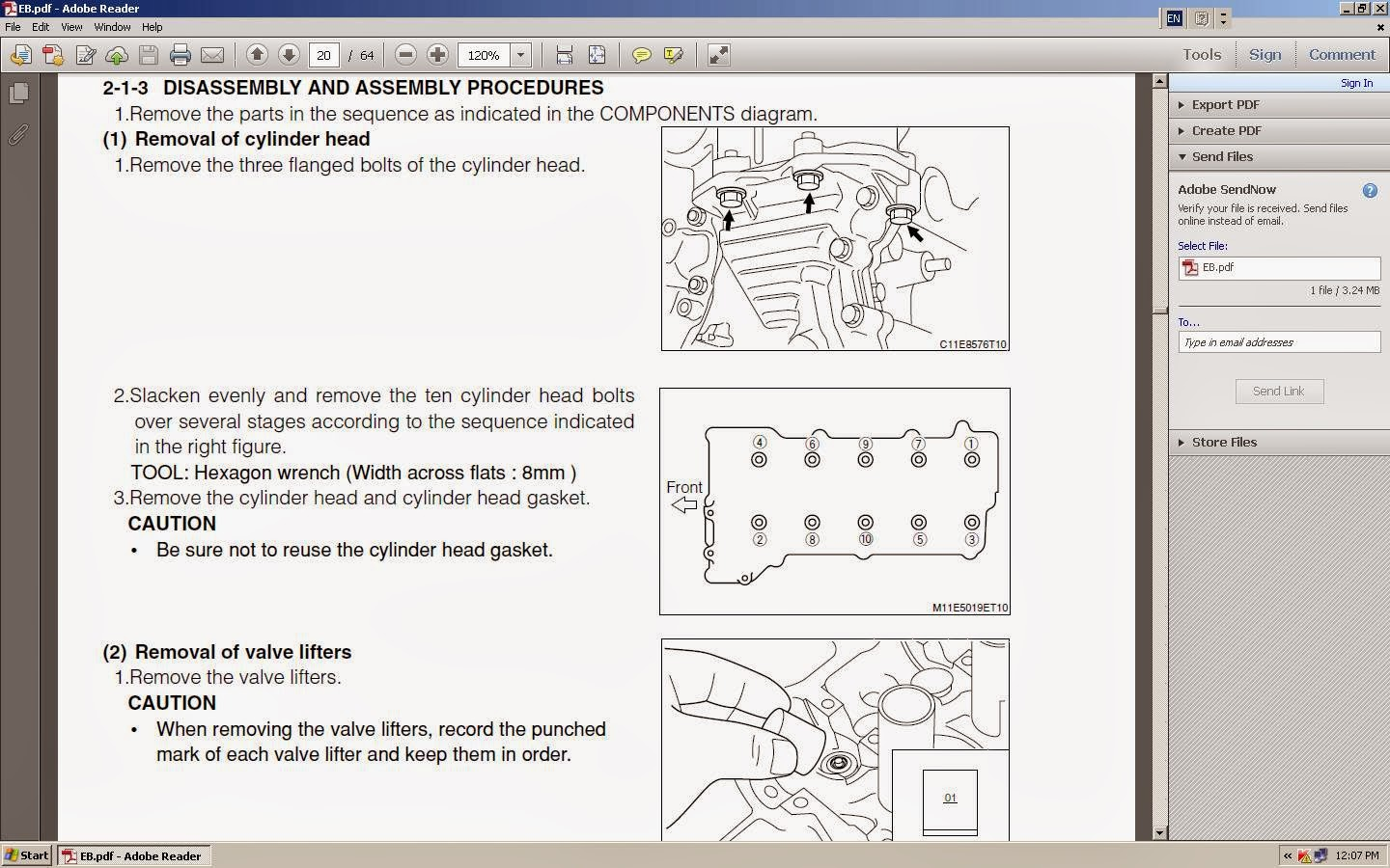 kp gasket daihatsu jb jl and jb det engine cylinder head gasket removal factory five wiring diagram this is just part of the few pages which can find it in the service manual, please click on the image to view the original size of the photo