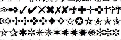 Liste des symboles rares pour Facebook