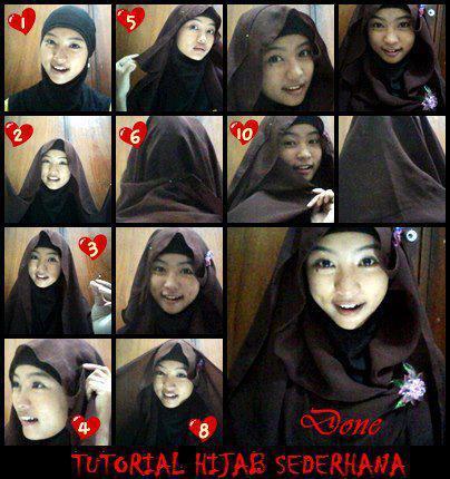 cara memakai jilbab cantik