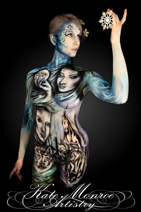 13-Spirits-of-Winter-Model-Elle-King-Kate-Monroe-Face-and-Body-Painting-on-Human-Canvases-www-designstack-co
