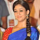 Nayanthara in Blue Silk Saree @ Srirama Rajyam Event Pics