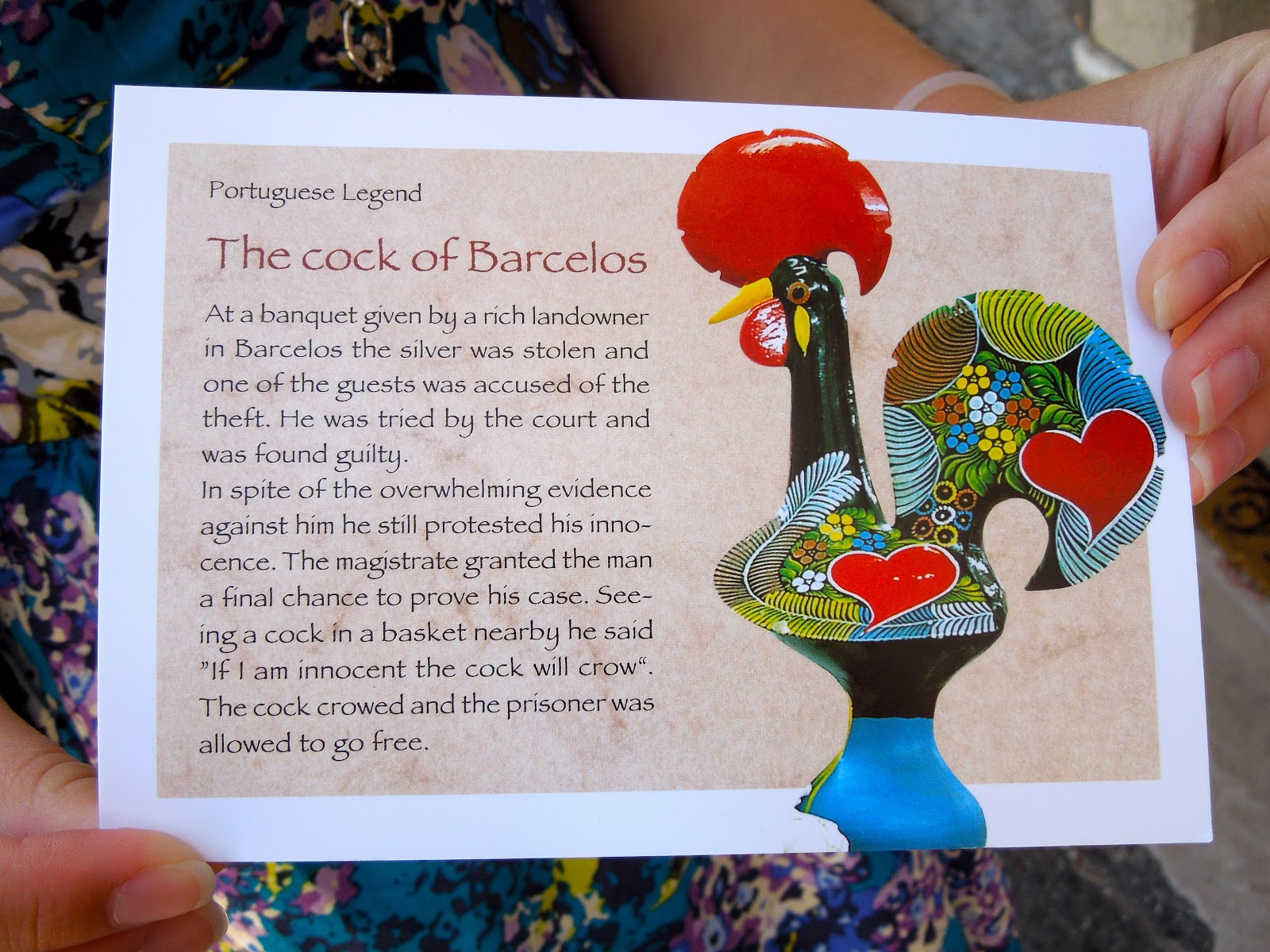 To Europe With Kids The Rooster Of Barcelos