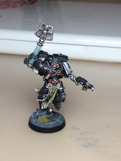 Raven Guard Space Marine Chaplain for Warhammer 40k