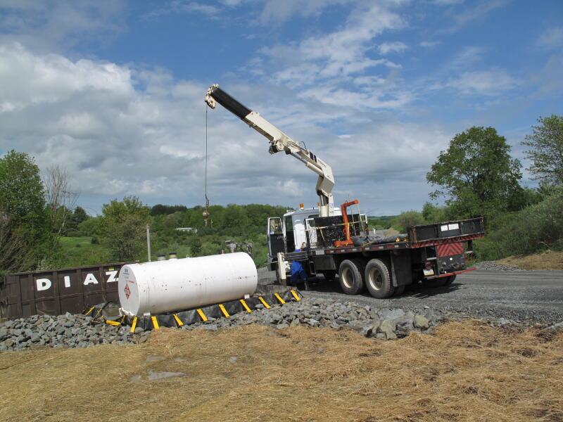 Construction Gas Tank : The joyce road neighborhood pad construction