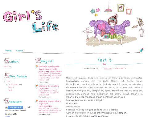 Girl Gift Blogger Theme