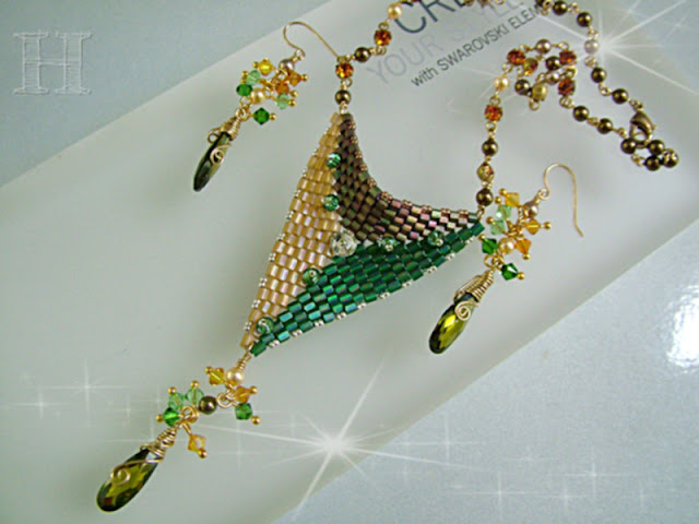 Butterfly Clasp Transformed necklace and earrings set