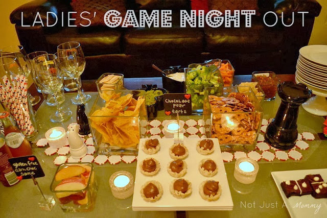 Ladies' Game Night Out  food table