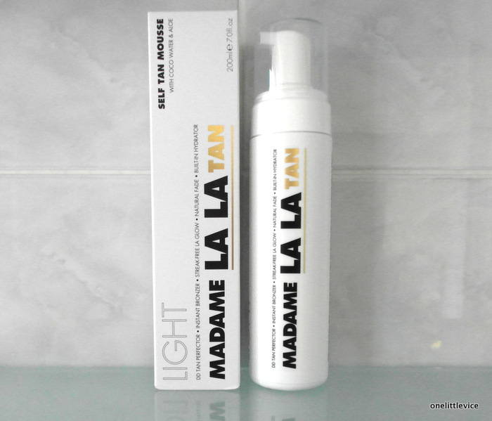 image of madame la la self tan mousse
